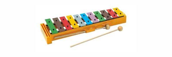 Glockenspiel und Stabinstrumente