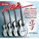 La Bella FG 134 Kindergitarren Satz für 3/4 Gitarre