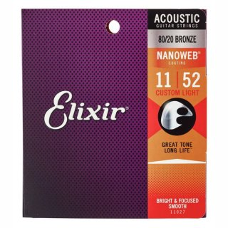 Elixir 11027 Westerngitarre Nanoweb Custom Light 011 - 052
