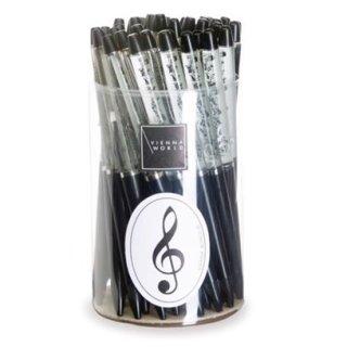 Kugelschreiber Notenlinie schwarz (1 Stk)