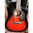 Aria-Dreadnought ADW-01CE-BS in Red Shade mit Tonabnehmer