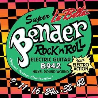 La Bella Super Bender string set B942 .009-.042