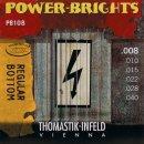 Thomastik-Power Brights PB108 REGULAR BOTTOM extra light  E-Gitarren Saiten brass plated .008-.040
