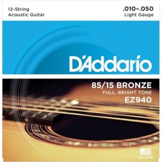 DAddario EZ940 12-String Bronze, Light, 10-50