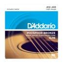 DAddario EJ16, Phosphorbronze, Light, 12-53