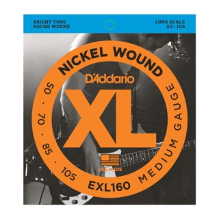 DAddario EXL160 Nickel Wound Bass, Medium, 50-105, Long Scale
