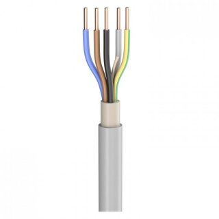 SommerCable Lastleitung NYM-J; 5 x 1,50 mm²; PVC, flammwidrig, Ø 9,80 mm; grau