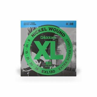 DAddario EXL130 Nickel Wound, Extra Super Light, 8-38