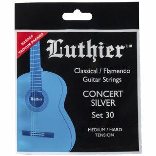 Luthier Set 30 Klassik Satz Concert Silver  in Medium-Hard Tension