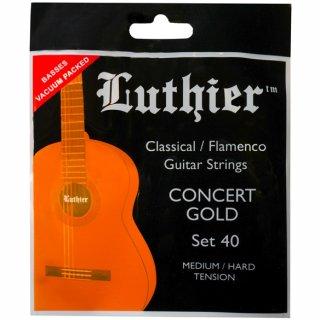 Luthier Set 40 Klassik Satz Concert Gold Medium/Hard Tension