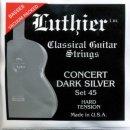 Luthier Set 45 Klassik Satz Concert Dark Silver Hard Tension