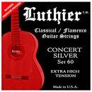 Luthier Set 60 Klassik Satz Concert White Silver Extra...